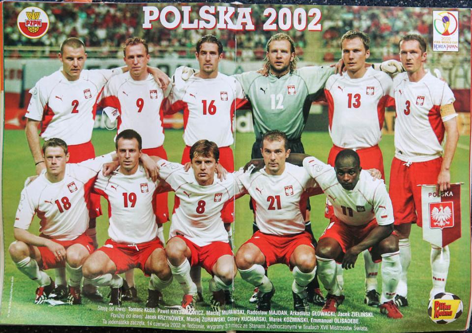 Reprezentacja Polski przed meczem z USA (14.06.2002)