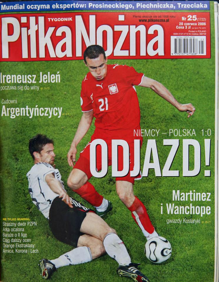 Okładka piłki nożnej po meczu Polska - Niemcy (14.06.2006)