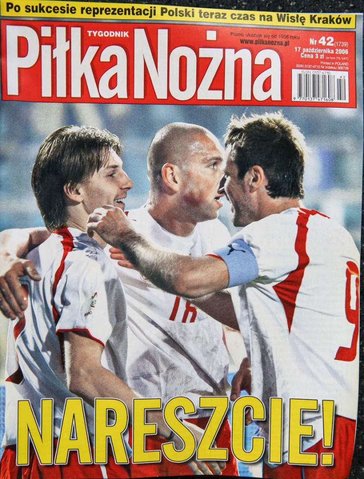 Okładka piłki nożnej po meczu Polska - Portugalia (11.10.2006)