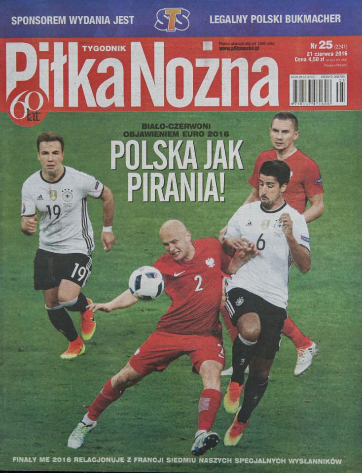 Okładka piłki nożnej po meczu Niemcy - Polska (16.06.2016)