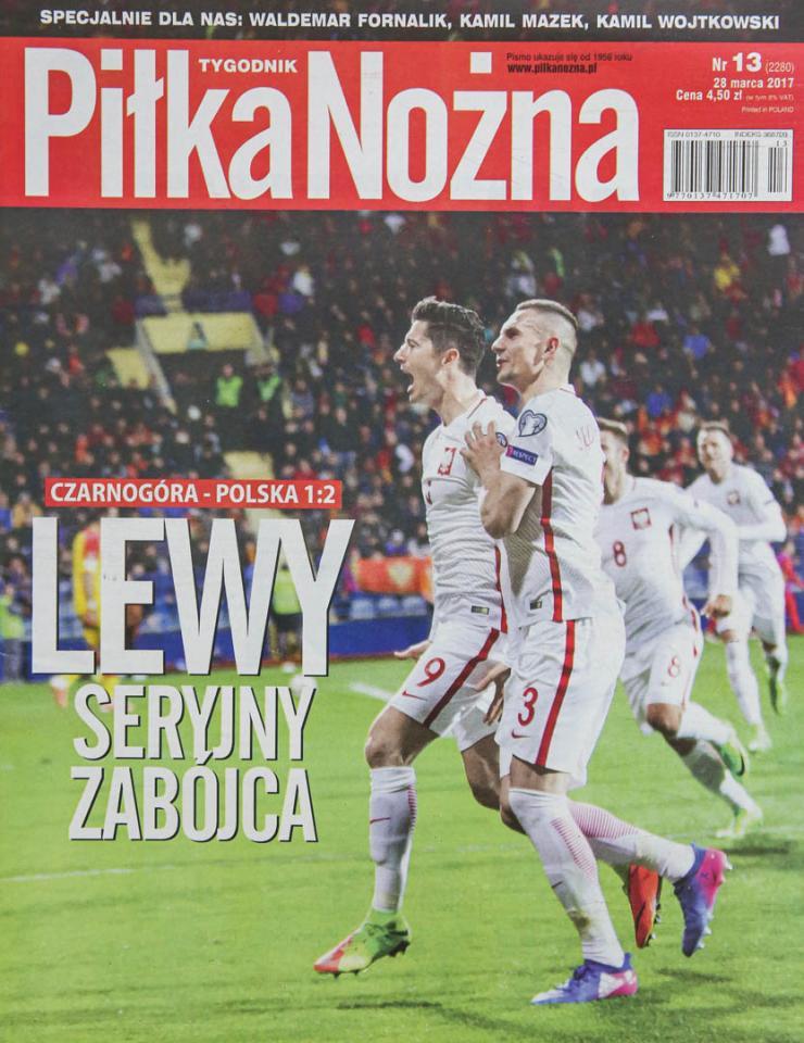 Okładka piłki nożnej po meczu Czarnogóra - Polska (26.03.2017)