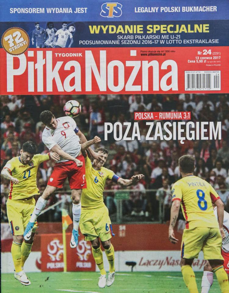 Okładka piłki nożnej po meczu Polska - Rumunia (10.06.2017)
