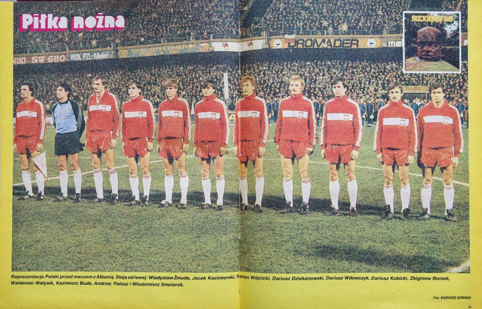 Reprezentacja Polski przed meczem z Albanią (31.10.1984)