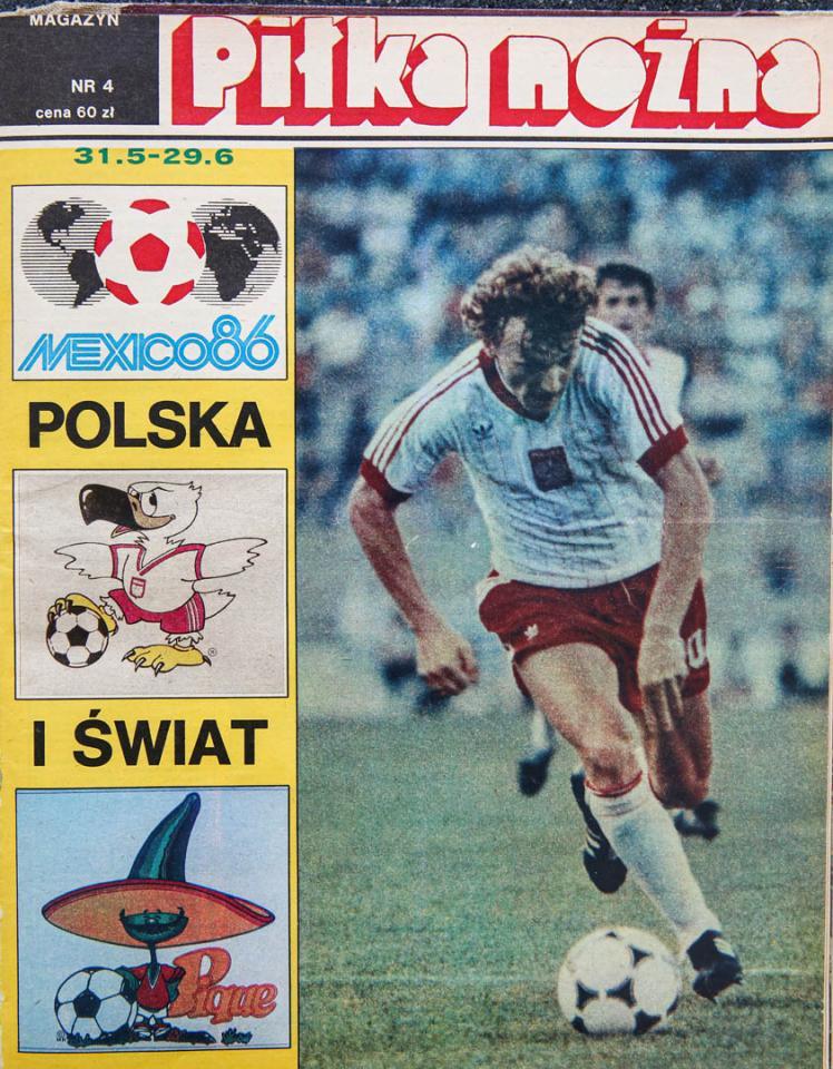 Okładka specjalnego wydania Piłki Nożnej przed mundialem 1986