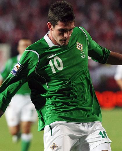 Polska - Irlandia Północna 1:1, 05.09.2009, porównanie piłkarzy lafferty