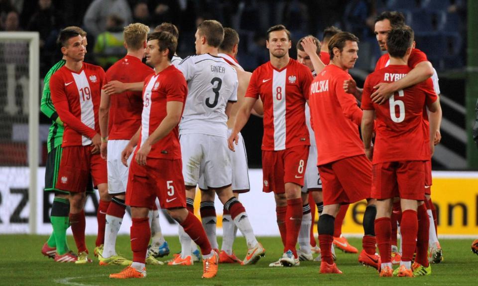 Piłkarze Polski i Niemiec po meczu