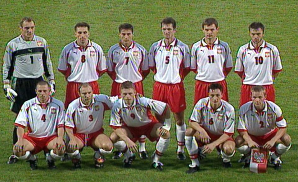 Reprezentacja Polski przed meczem z Hiszpanią.