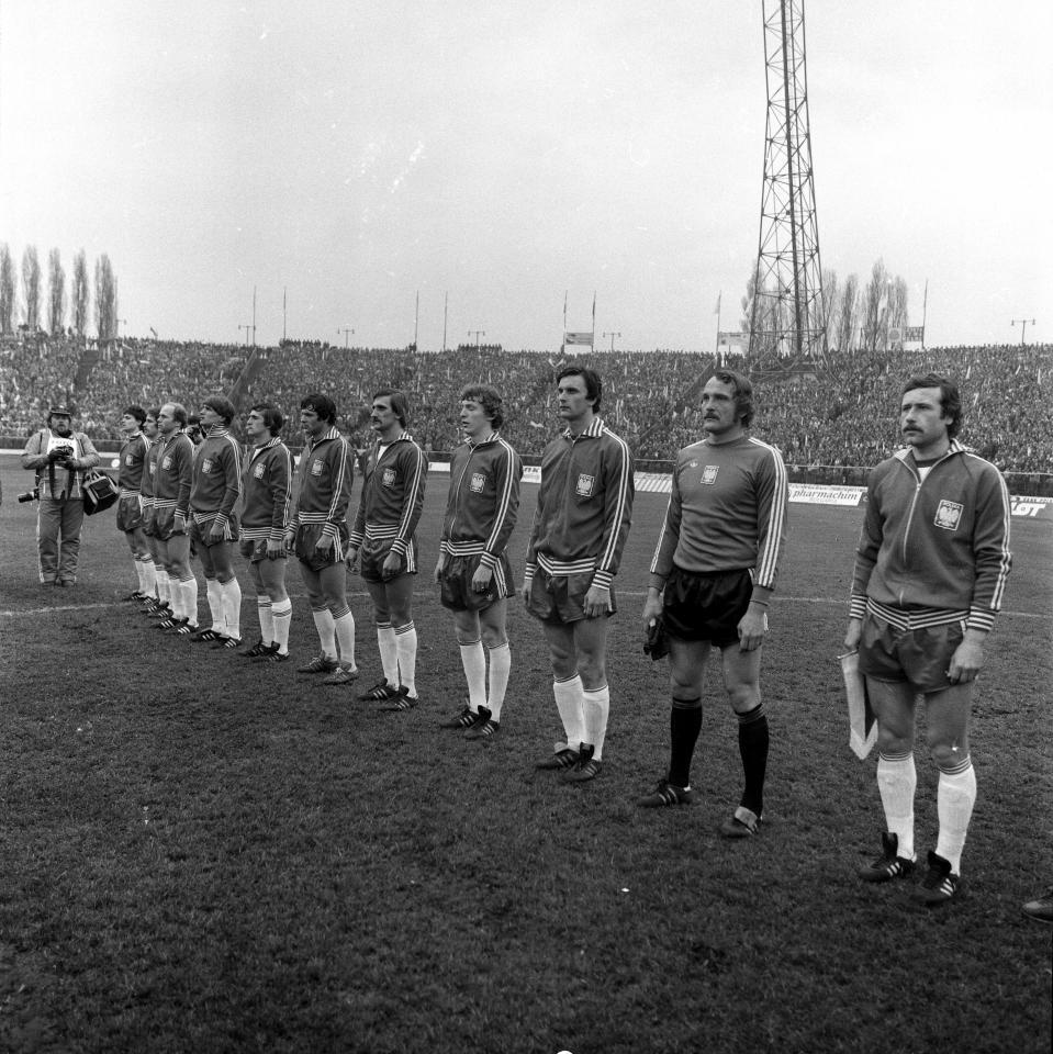 Reprezentacja Polski przed meczem z Holandią w eliminacjach Euro 1980.