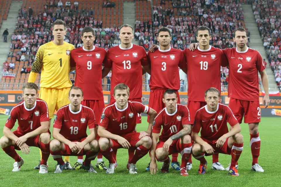 Reprezentacja Polski przed meczem z Gruzją.