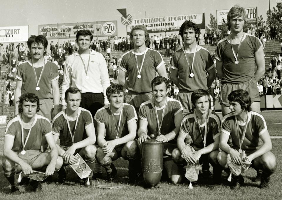 Zdobywcy Pucharu Polski z 1972 roku - Górnik Zabrze.