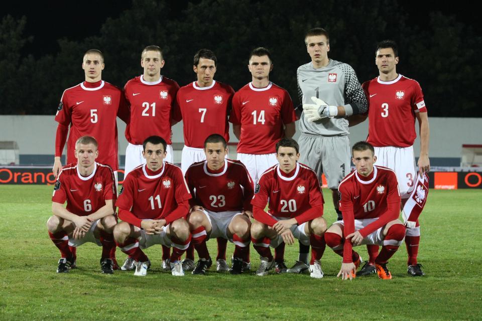 Reprezentacja Polski przed meczem z Mołdawią.