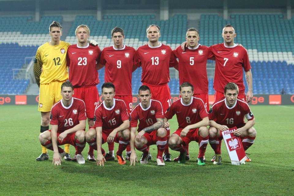 Reprezentacja Polski przed meczem z Norwegią