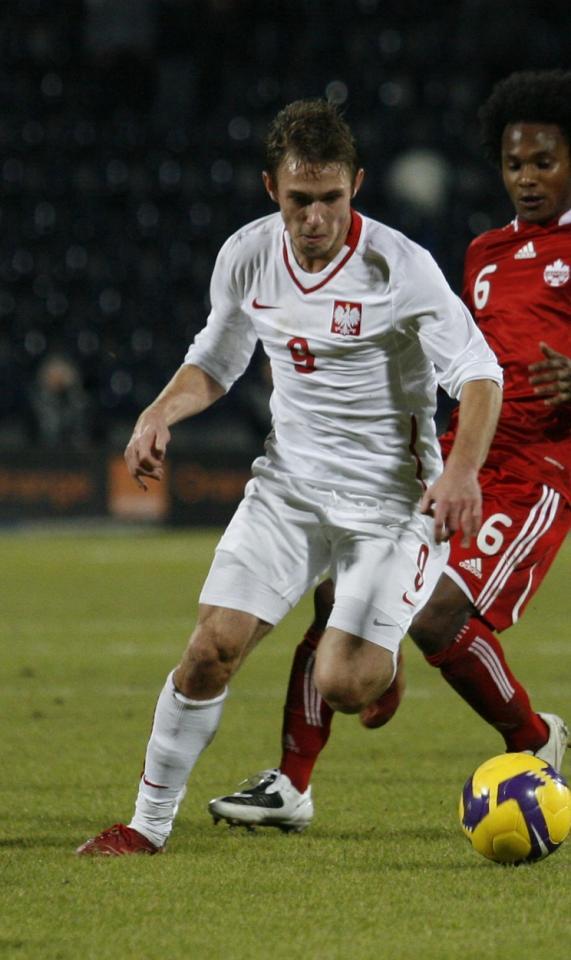 Maciej Rybus podczas meczu Polska - Kanada 1:0 (18.11.2009).