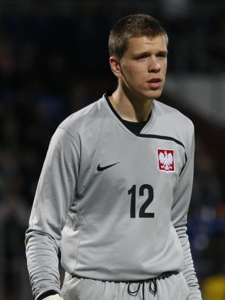 Wojciech Szczęsny podczas meczu Polska - Kanada 1:0 (18.11.2009).