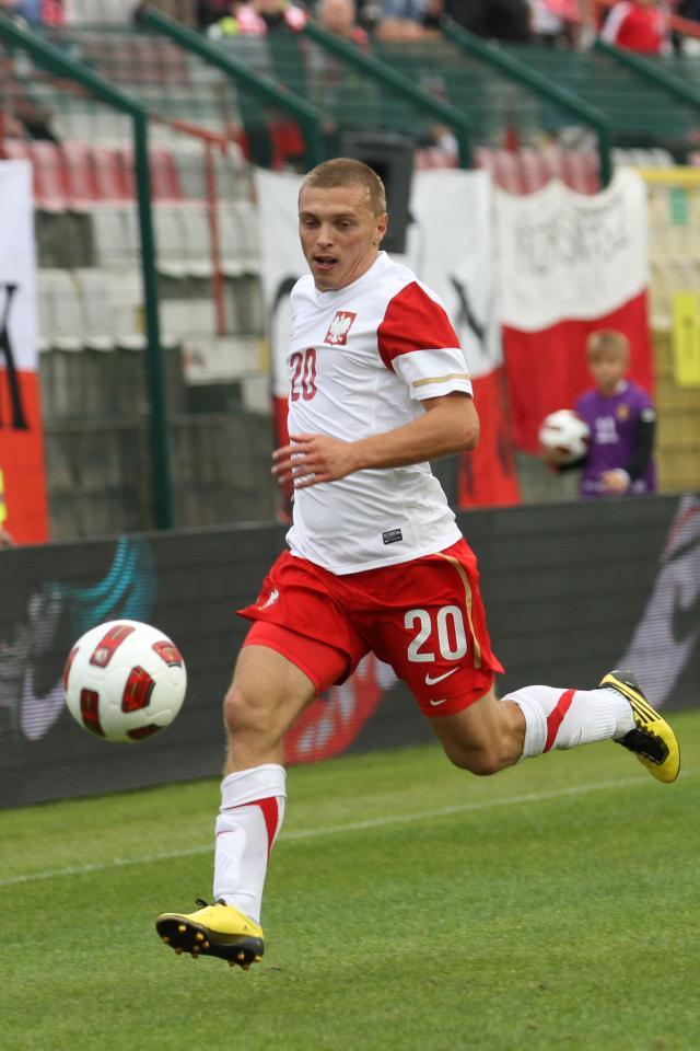 W meczu z Estonią Maciej Iwański strzelił debiutanckiego gola w reprezentacji