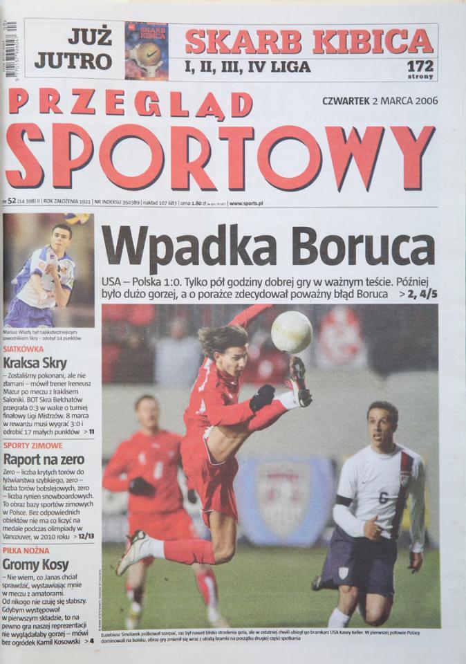 Okładka Przeglądu po meczu USA - Polska (01.03.2006)