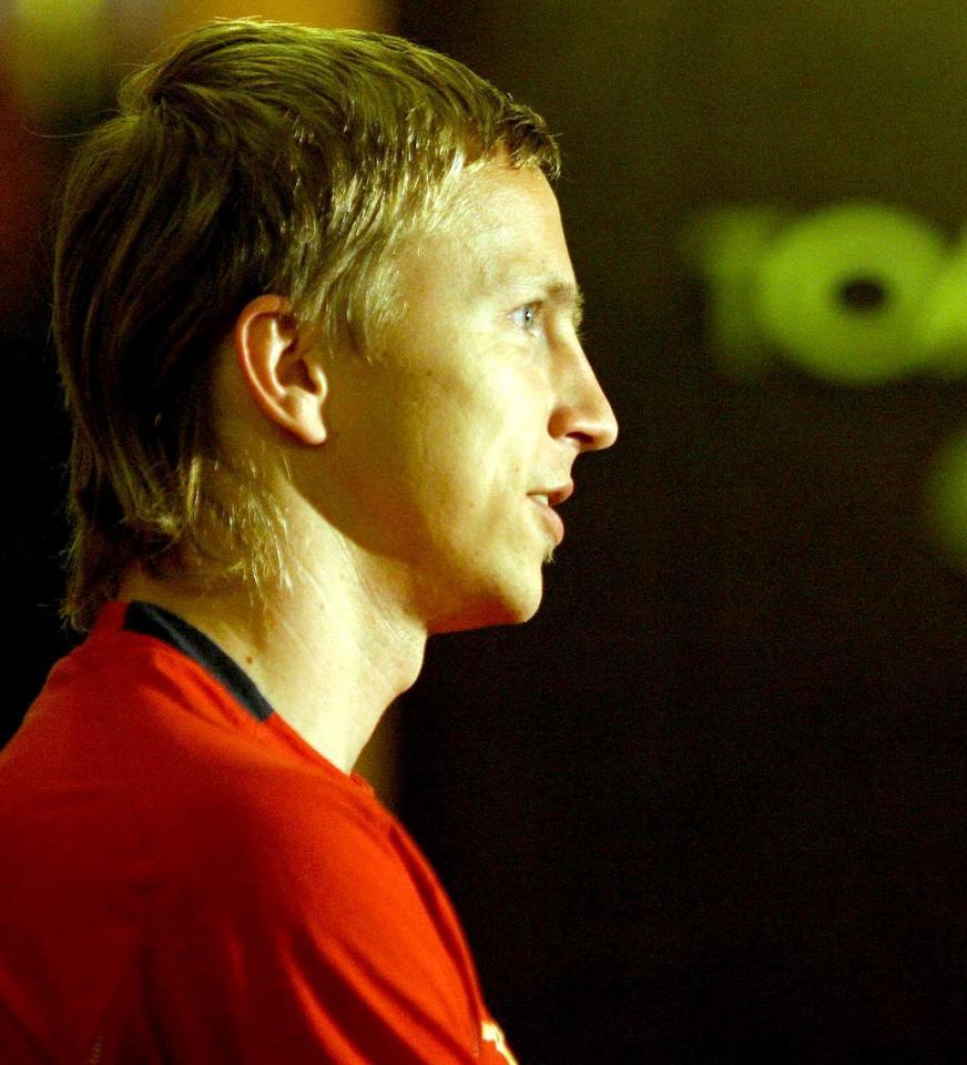 Marcin Baszczyński po meczu Polska - Litwa 0:1 (02.05.2006).