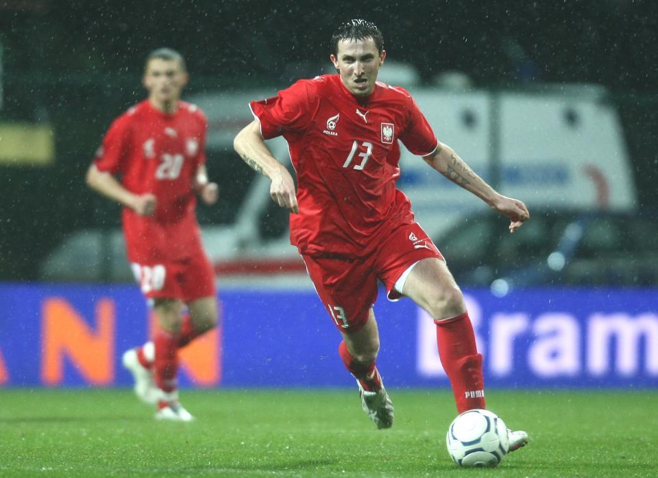 Michał Goliński podczas meczu Polska - Bośnia i Hercegowina 1:0 (15.12.2007).