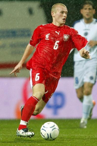 Michał Pazdan podczas meczu Polska - Bośnia i Hercegowina 1:0 (15.12.2007).