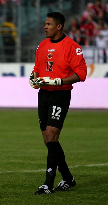 Bramkarz Luis Martínez.