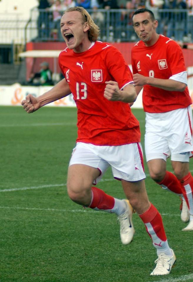 Sebastian Mila podczas meczu Polska - Wyspy Owcze 4:0 (14.05.2006).