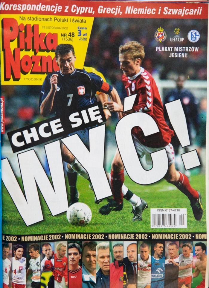 Tygodnik Piłka nożna po meczu dania - Polska (20.11.2002)