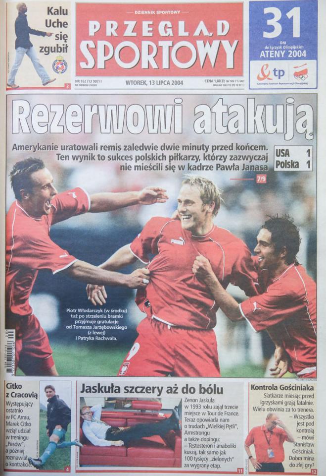 Przegląd sportowy po meczu USA - Polska (11.07.2004)