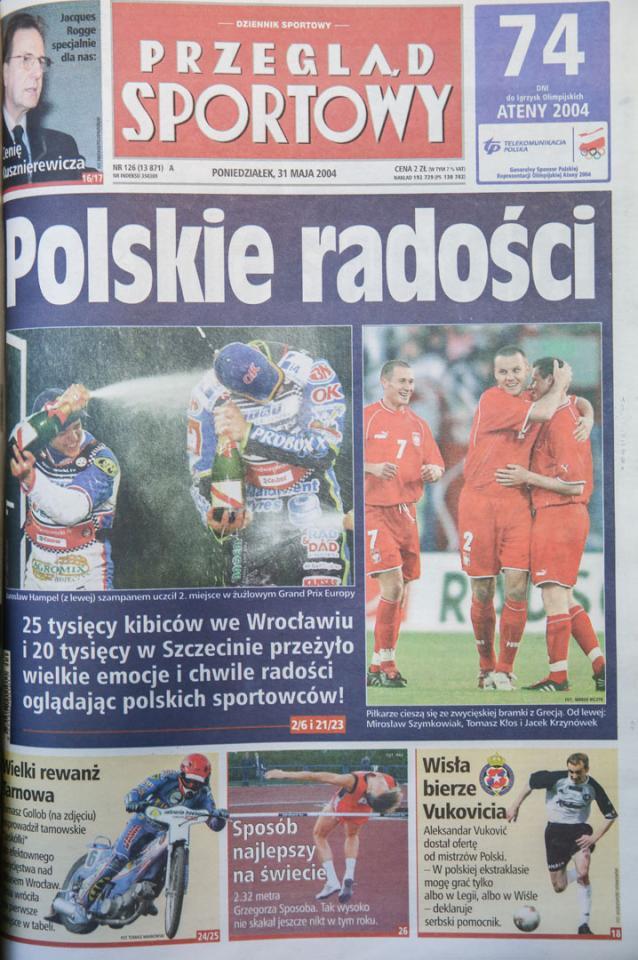 Przegląd o meczu Polska - Grecja (29.05.2004)