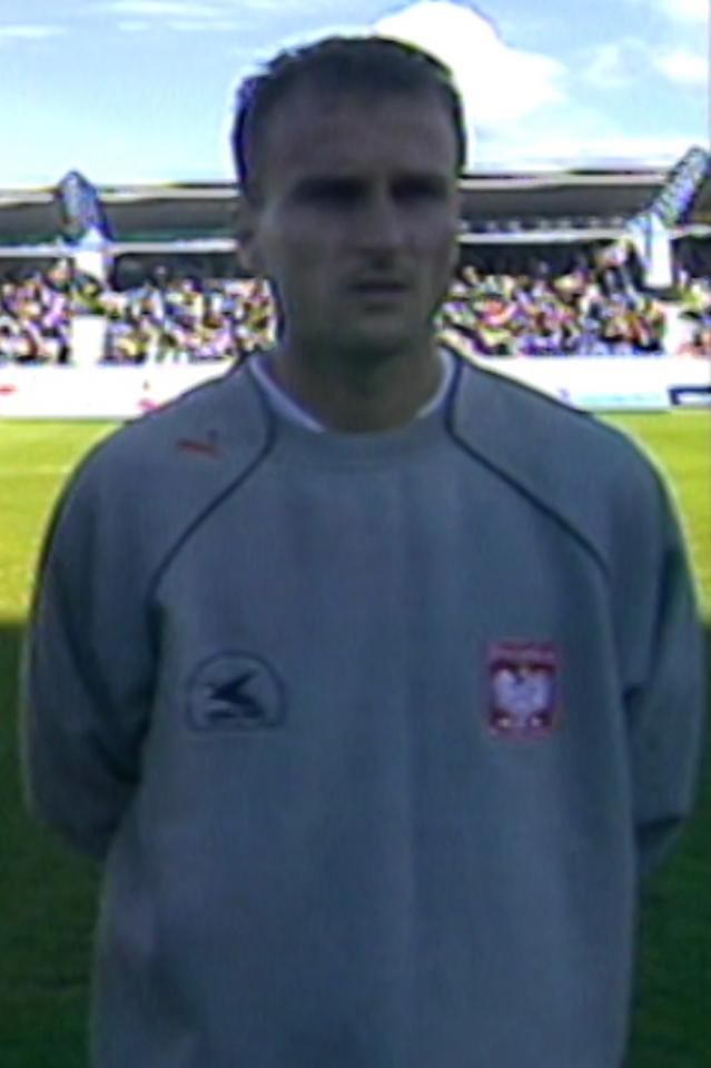 Grzegorz Pater przed meczem Islandia - Polska 1:1 (15.08.2001).