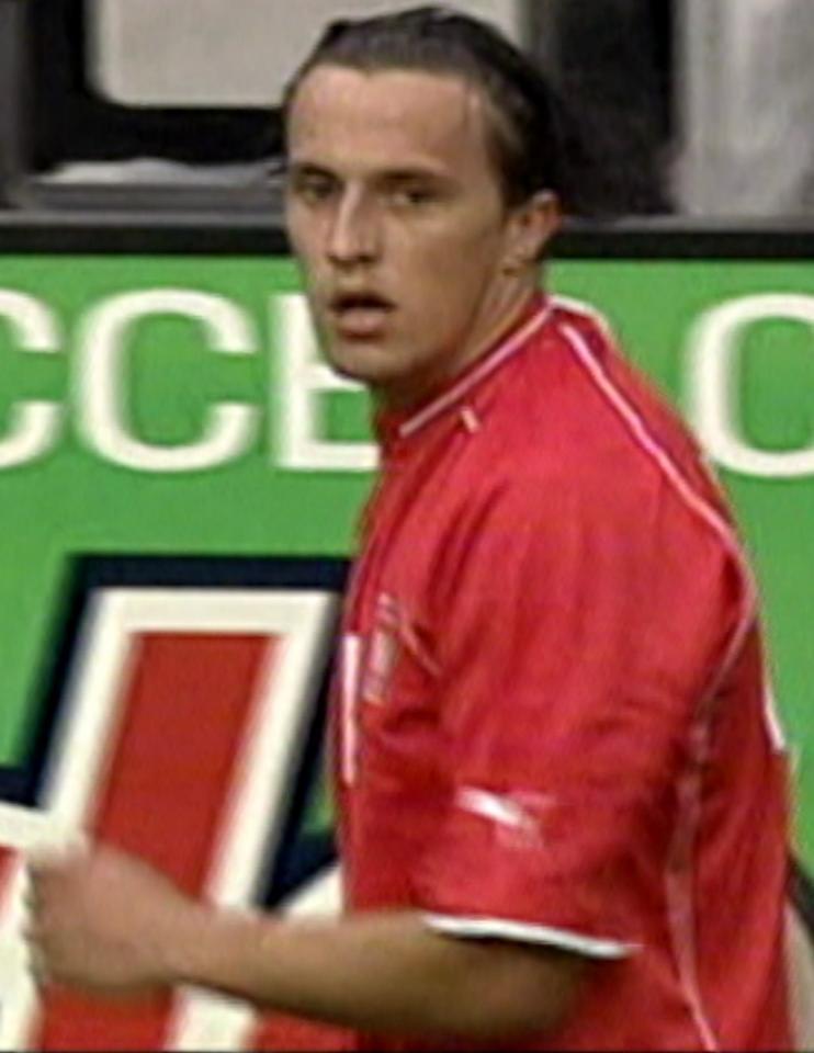 Dariusz Dudka podczas meczu USA - Polska 1:1 (12.07.2004).