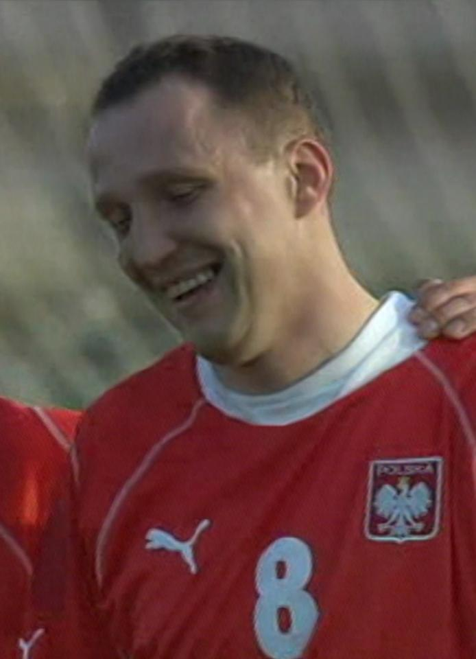 Paweł Kryszałowicz podczas meczu Polska - Wyspy Owcze 6:0 (21.02.2004).