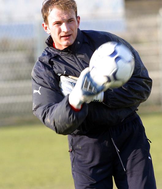 Mariusz Liberda na treningu reprezentacji Polski.