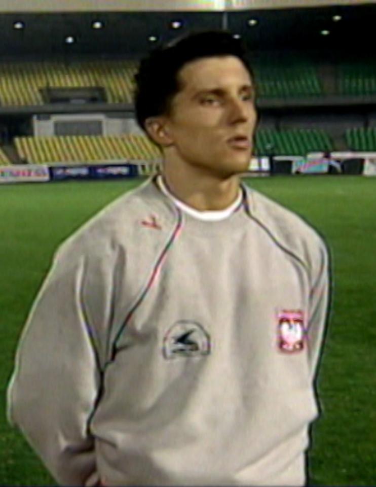 Tomasz Moskała przed meczem Polska - Wyspy Owcze 2:1 (10.02.2002).