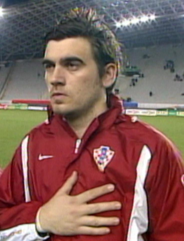 Stipe Pletikosa przed meczem Chorwacja - Polska 0:0 (12.02.2003).