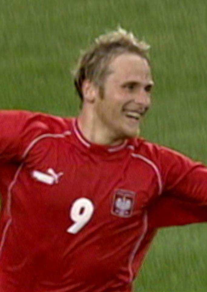 Piotr Włodarczyk podczas meczu USA - Polska 1:1 (12.07.2004).
