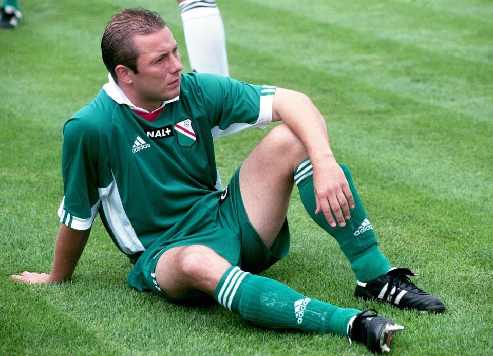 Wojciech Kowalczyk w barwach Legii Warszawa w sezonie 2000/2001.