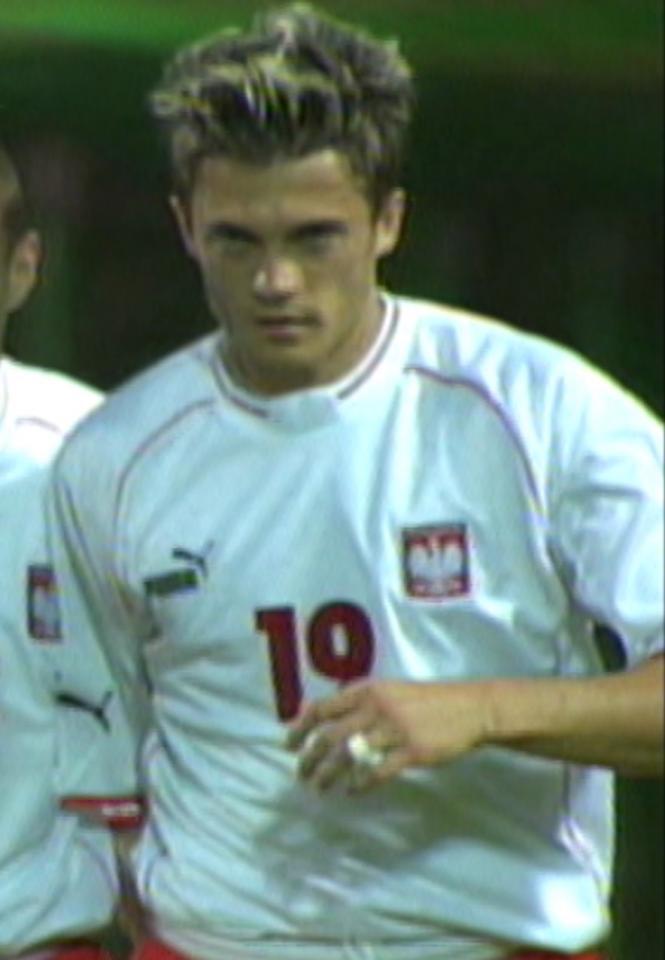 Marcin Zając podczas meczu Polska - Kazachstan 3:0 (06.06.2003).