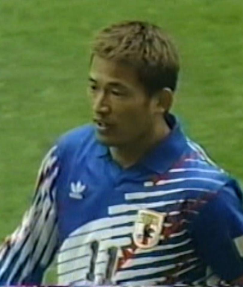 Kazuyoshi Miura podczas meczu Polska - Japonia 0:5 (19.02.1996).