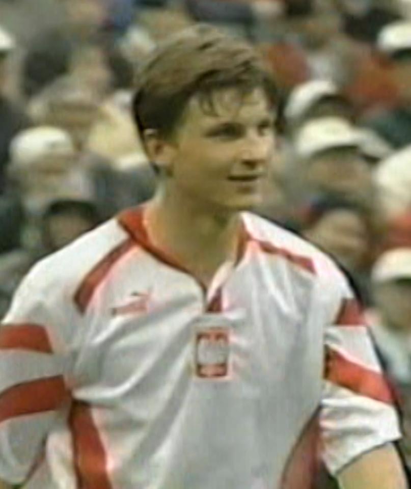 Marek Citko podczas meczu Polska - Japonia 0:5 (19.02.1996).