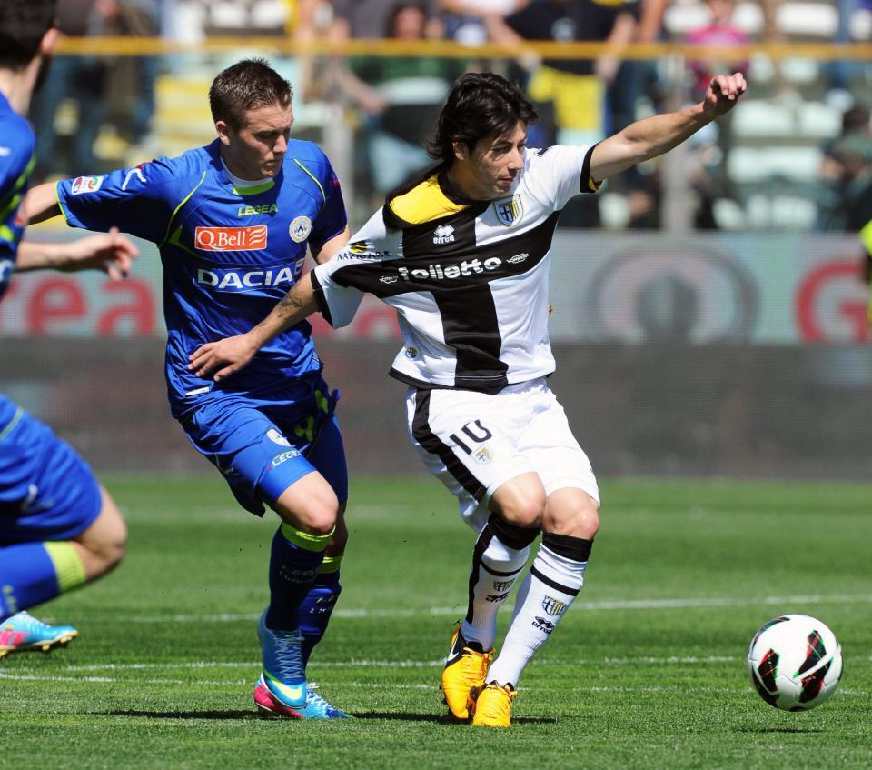 Piotr Zieliński podczas meczu Serie A Parma - Udinese 0:3 (14.04.2013).