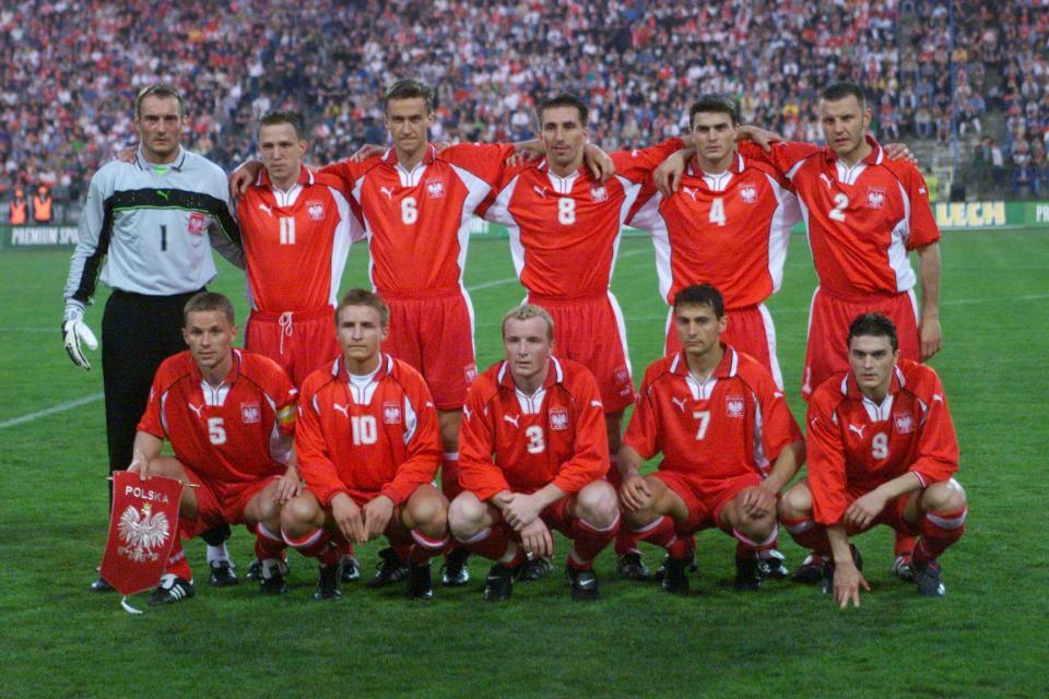Reprezentacja Polski przed meczem z Finlandią (26.04.2000)