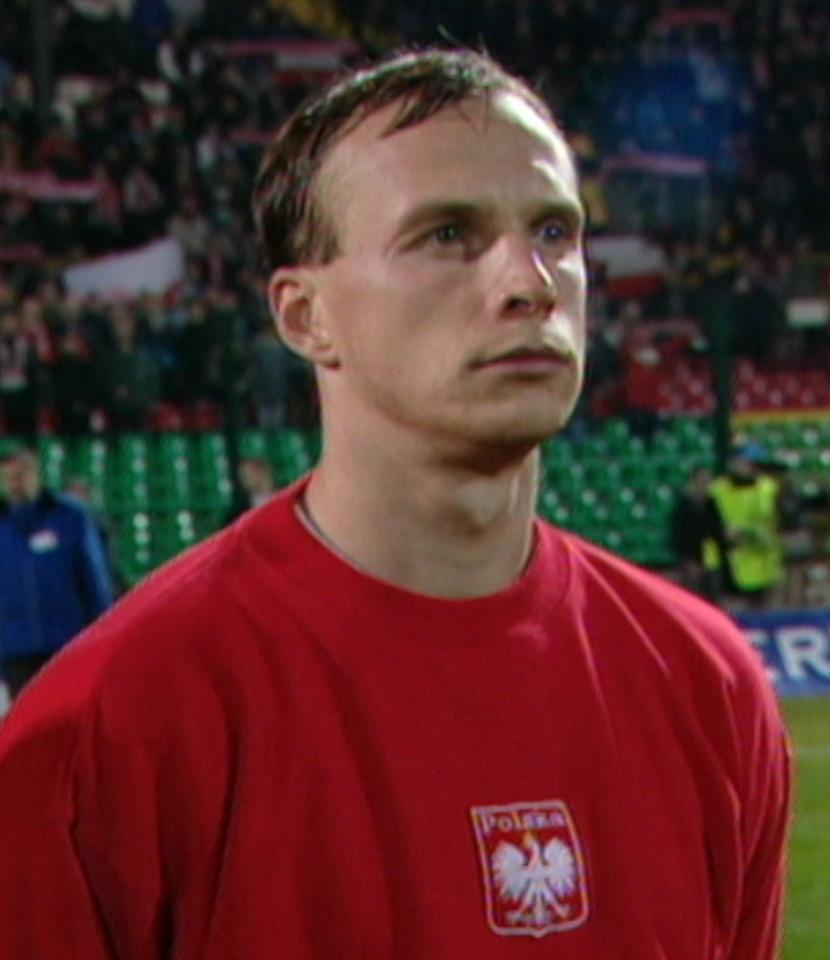 Olgierd Moskalewicz podczas meczu Polska - Islandia 1:0 (15.11.2000).