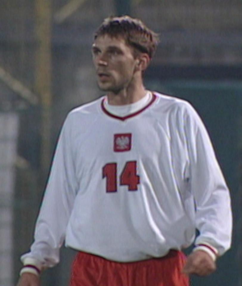 Tomasz Kos podczas meczu Polska - Islandia 1:0 (15.11.2000).