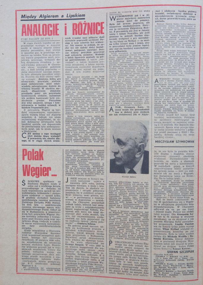 Piłka nożna po meczu Polska - Węgry (04.04.1979)