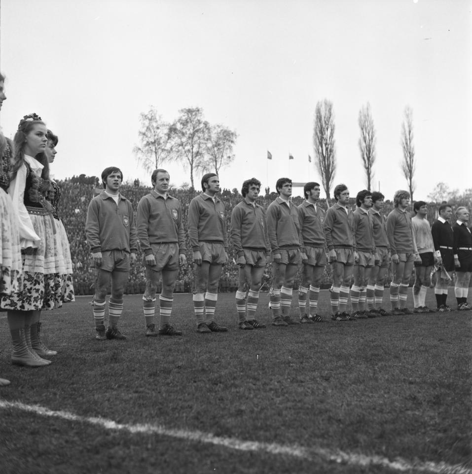 Reprezentacja Polski przed meczem z olimpijską kadrą Hiszpanii.