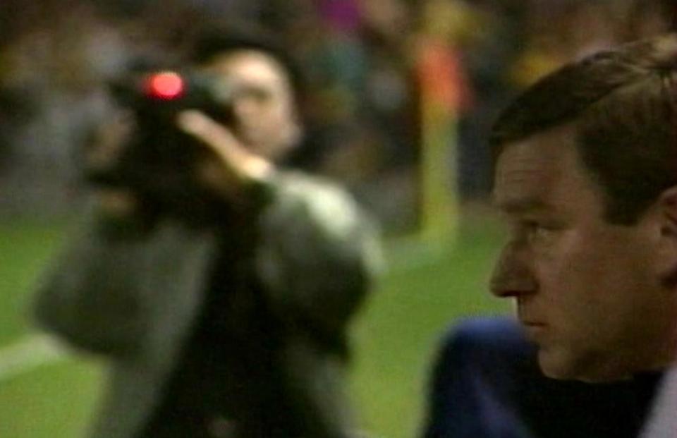 Javier Clemente podczas meczu Hiszpania - Polska 1:1 (09.02.1994).
