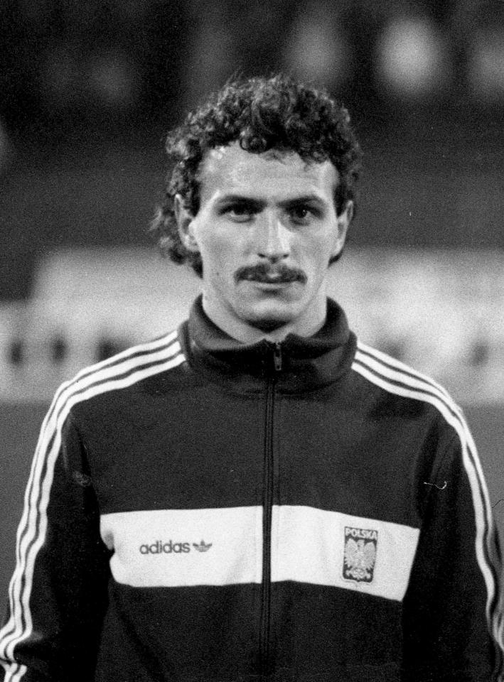 Jan Furtok przed meczem Polska - Irlandia 1:0 (12.11.1986).