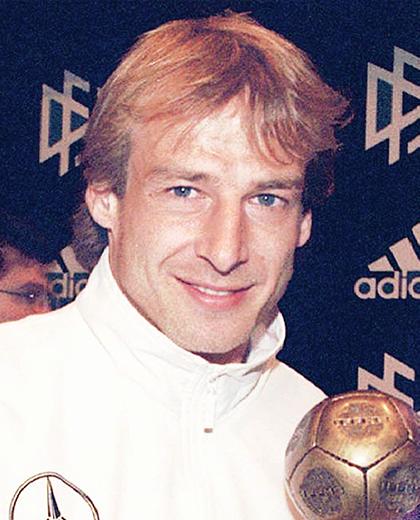 Polska - Niemcy 0:2, 04.09.1996, porównanie piłkarzy Klinsmann