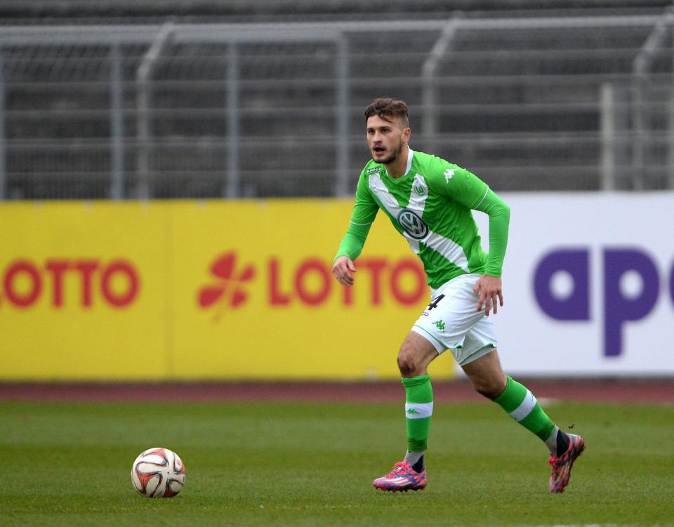Mateusz Klich w drużynie rezerw VfL Wolfsburg.