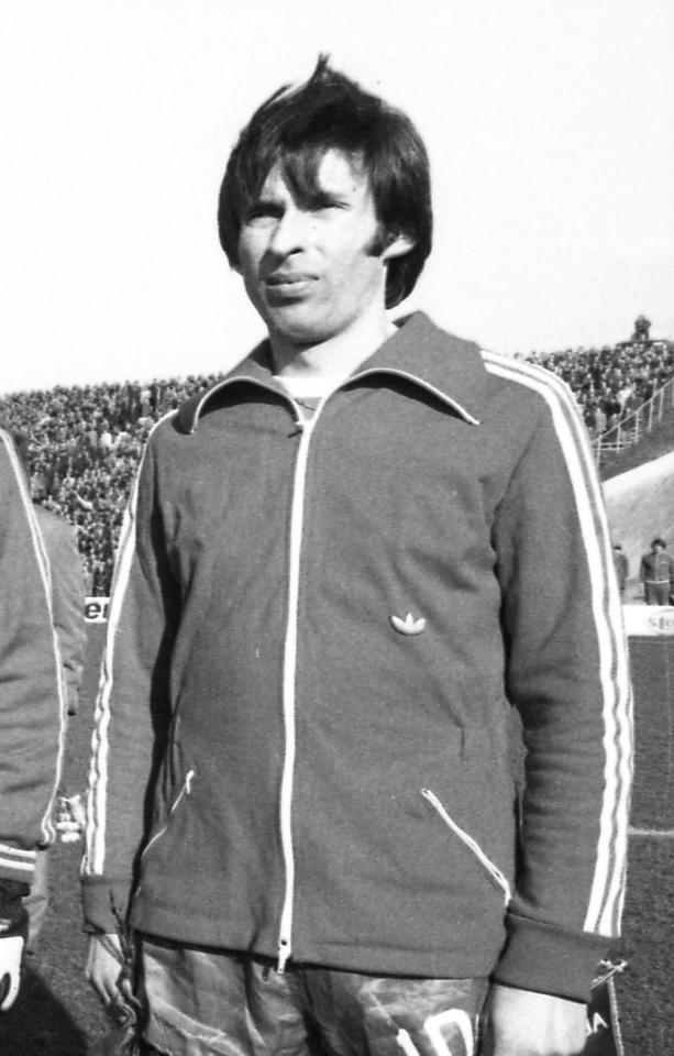Kazimierz Deyna podczas meczu Polska - Grecja 5:2 (05.04.1978).